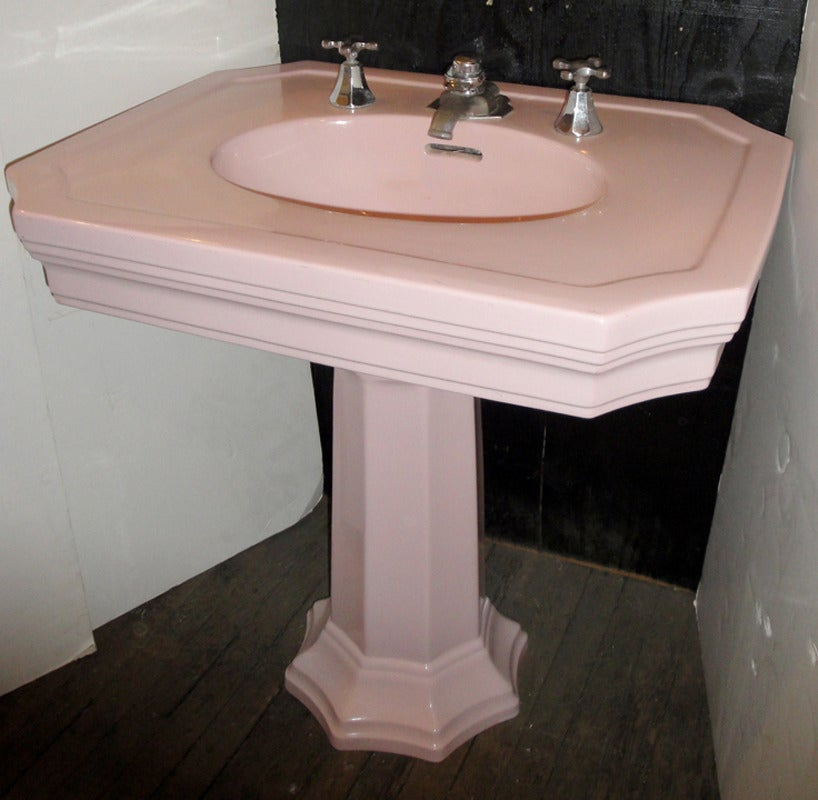 Art Deco Crane Elegia Sink In Orchid Pink For Sale At