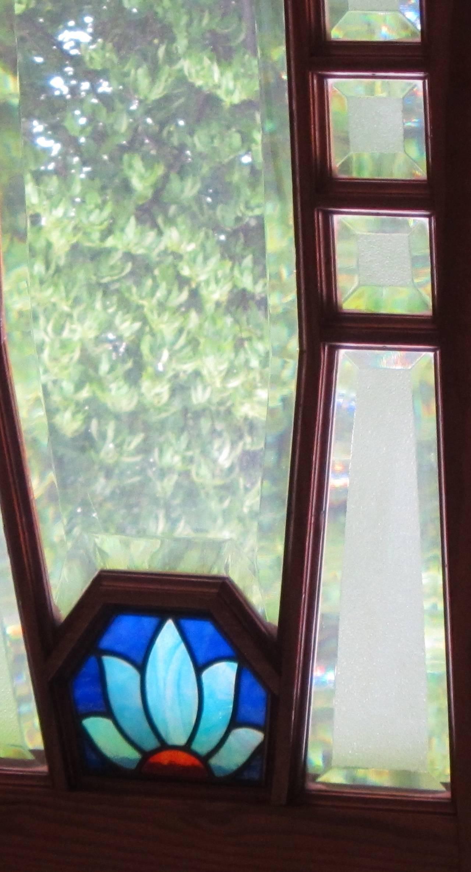 Set of antique inside doors with glass belgium bruxelles - Deco vintage belgique ...