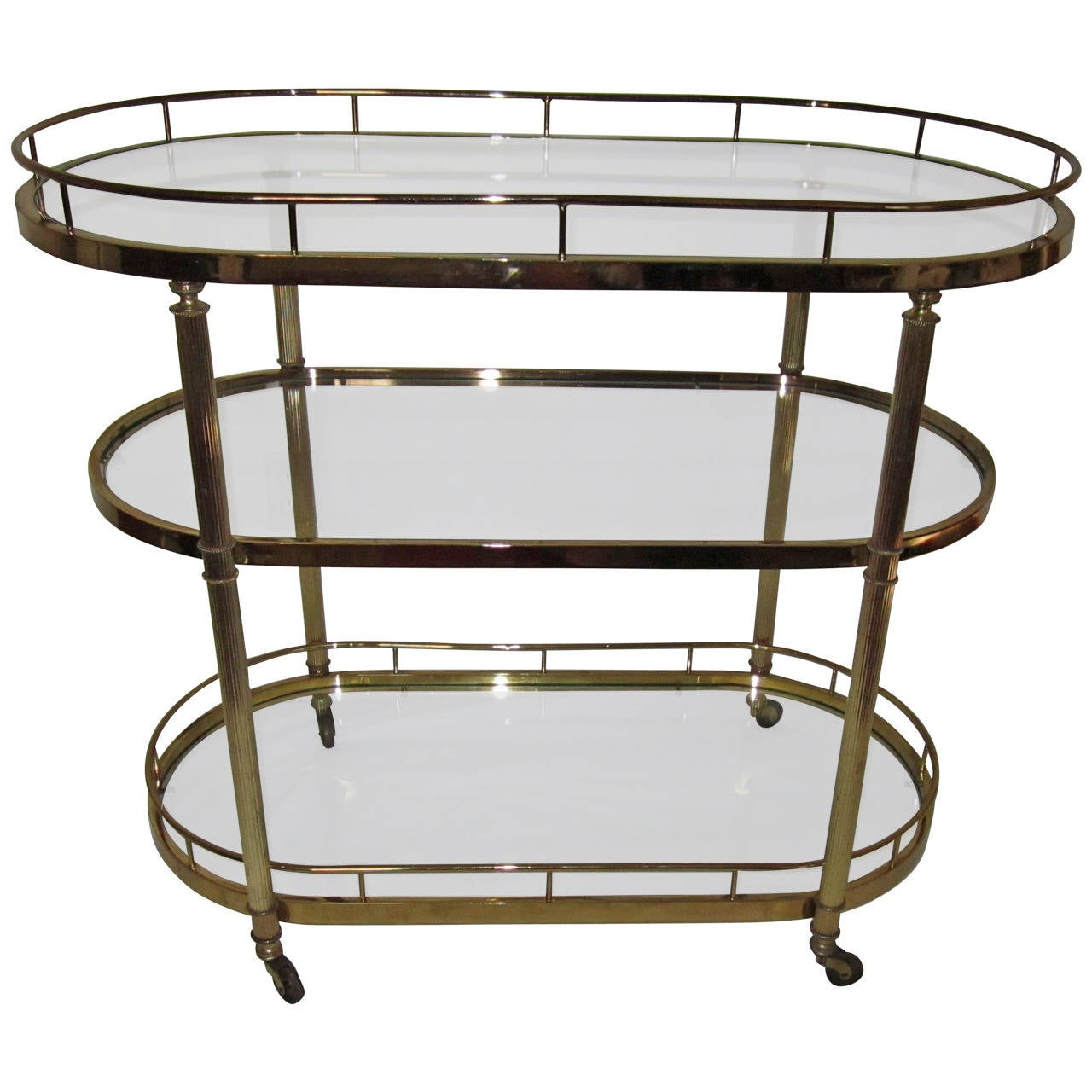 Vintage Brass Bar Cart Designed For The Design Institute