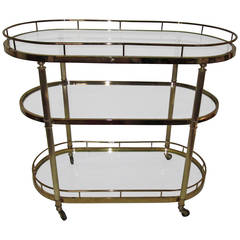 Vintage Brass Bar Cart Designed for the Design Institute of America