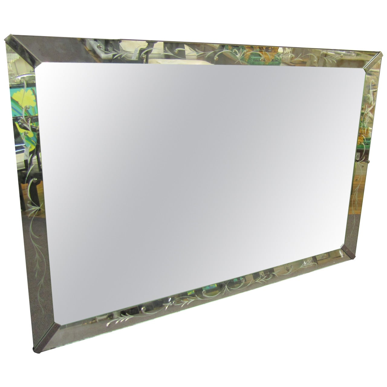 Large Midcentury Mirror in the Hollywood Regency Style