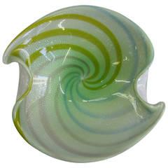 Vintage Italian Murano Multicolored Art Glass Bowl