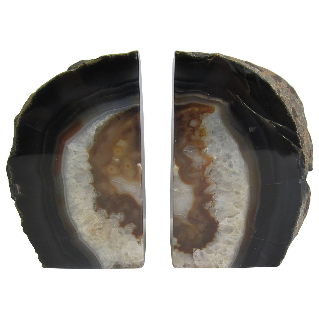 Pair of crystal geode bookends at 1stdibs - Geode bookends ...