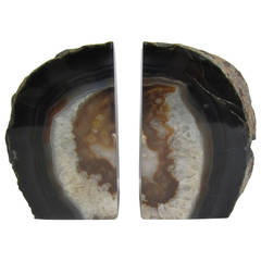 Pair of Crystal Geode Bookends