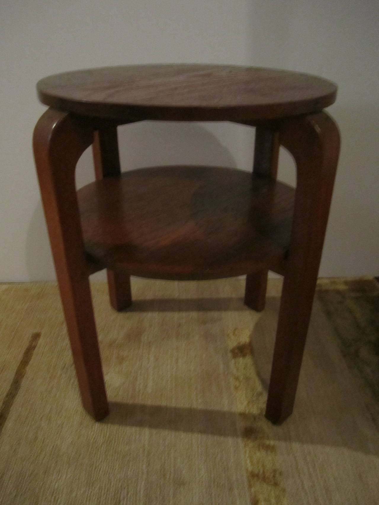 Mid century modern danish two tier side table in the style for Mid century furniture florida