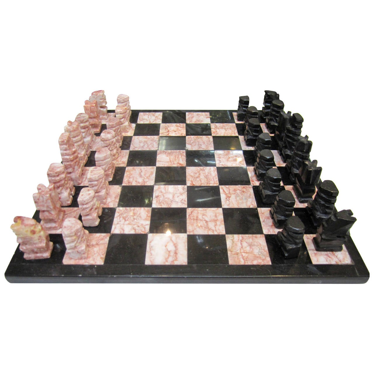 Onyx marble chess set foto bugil bokep 2017 - Granite chess set ...