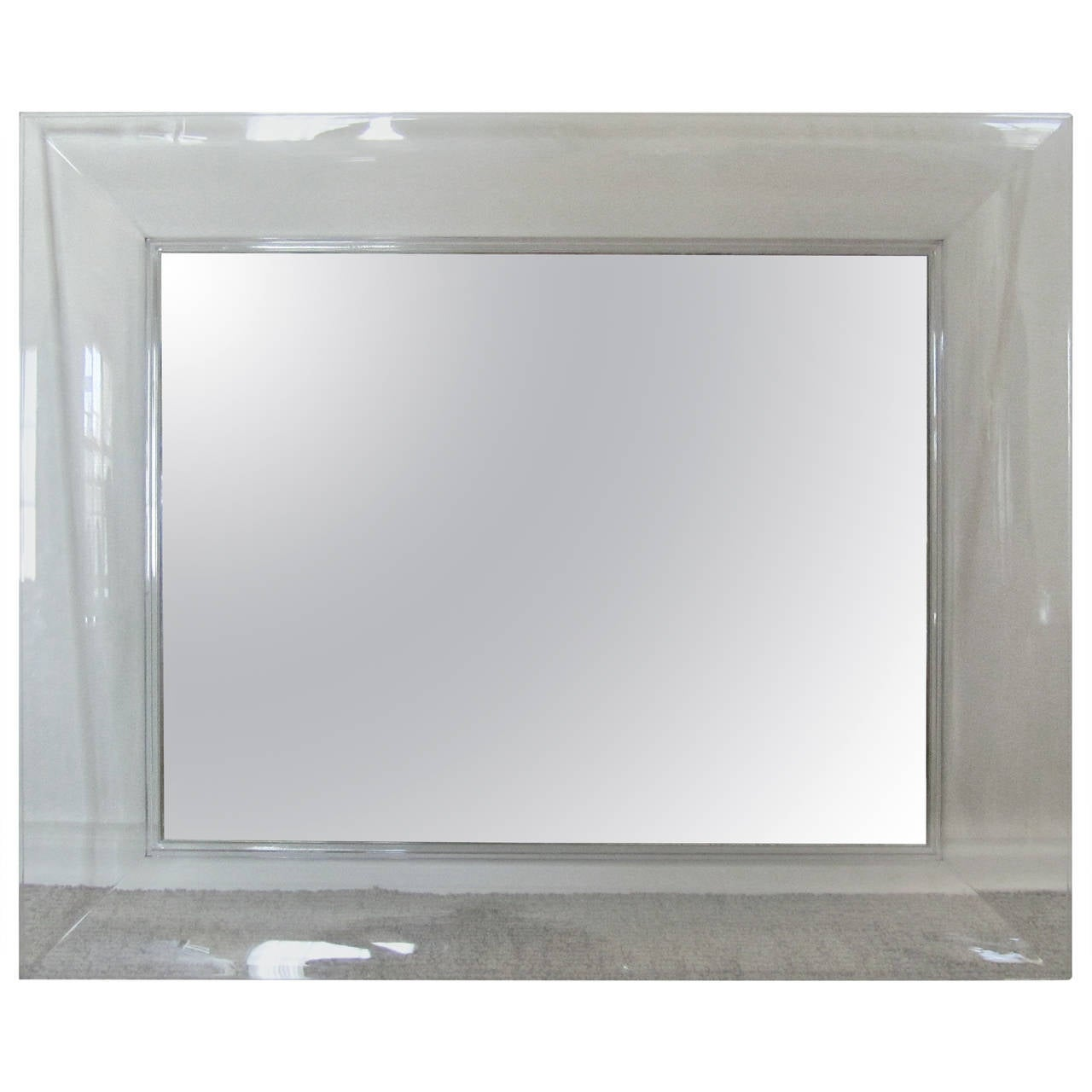 Kartell francois ghost large rectangular mirror by for Philippe starck miroir