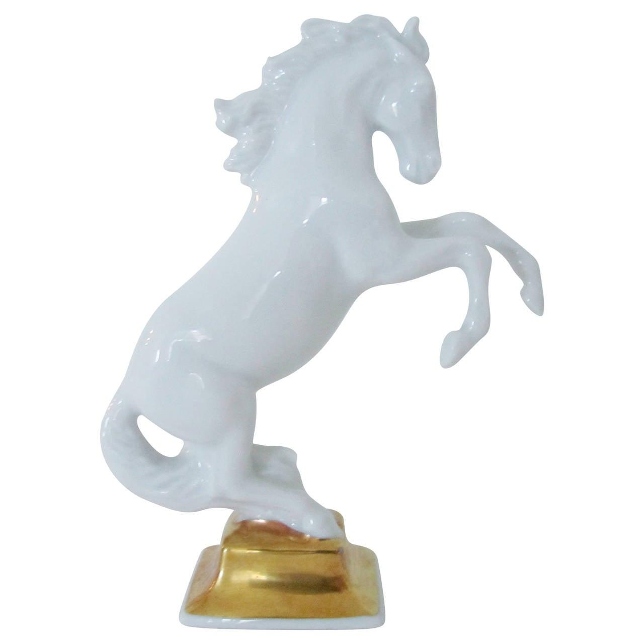 Blanc-de-Chine Porcelain Horse Sculpture by Max Hermann Fritz for Rosenthal