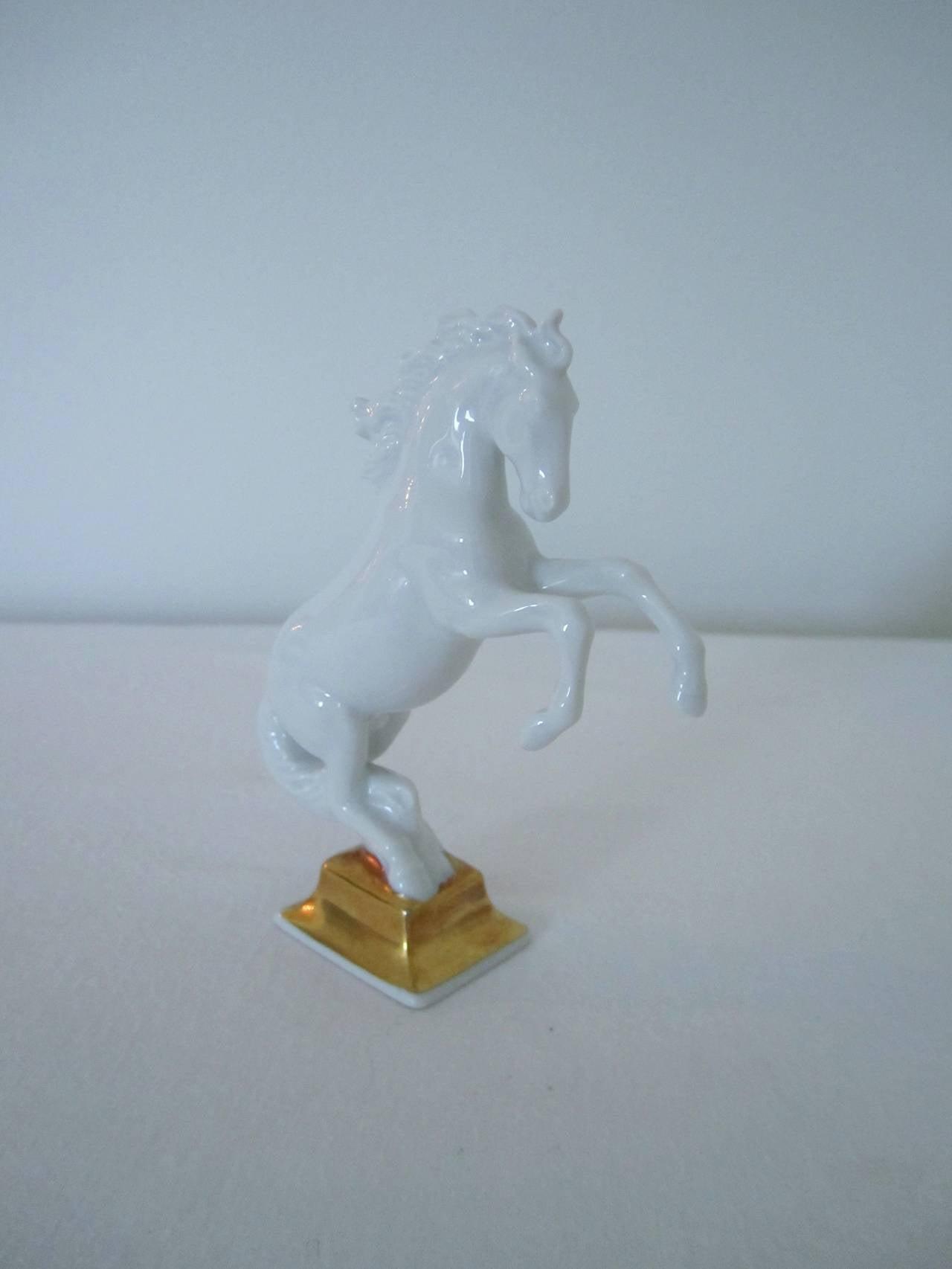 German Blanc-de-Chine Porcelain Horse Sculpture by Max Hermann Fritz for Rosenthal