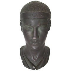 Midcentury Greek or Roman Bust Sculpture