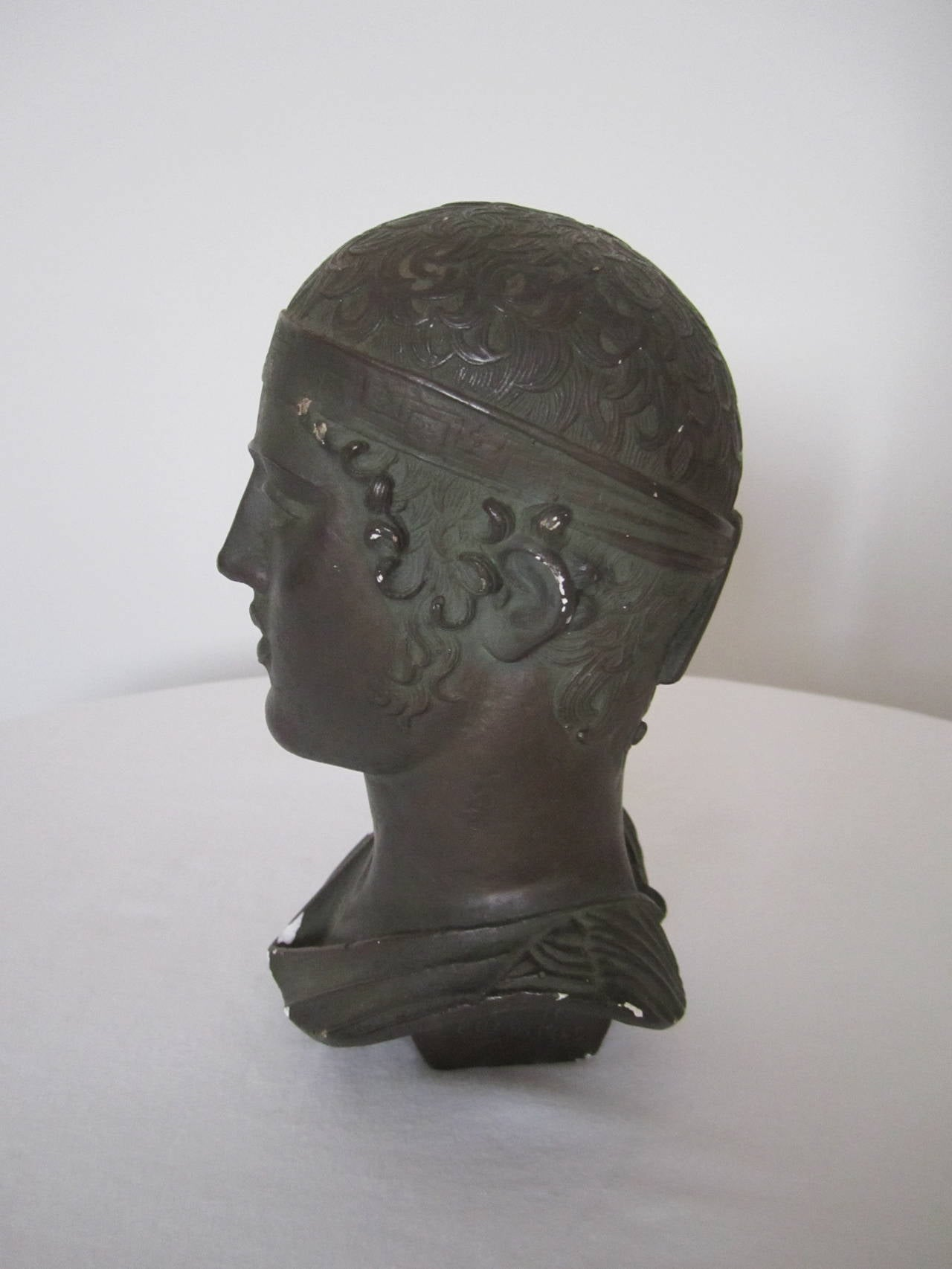 Mid Century English Sculpture Of A Greek Or Roman God Bust