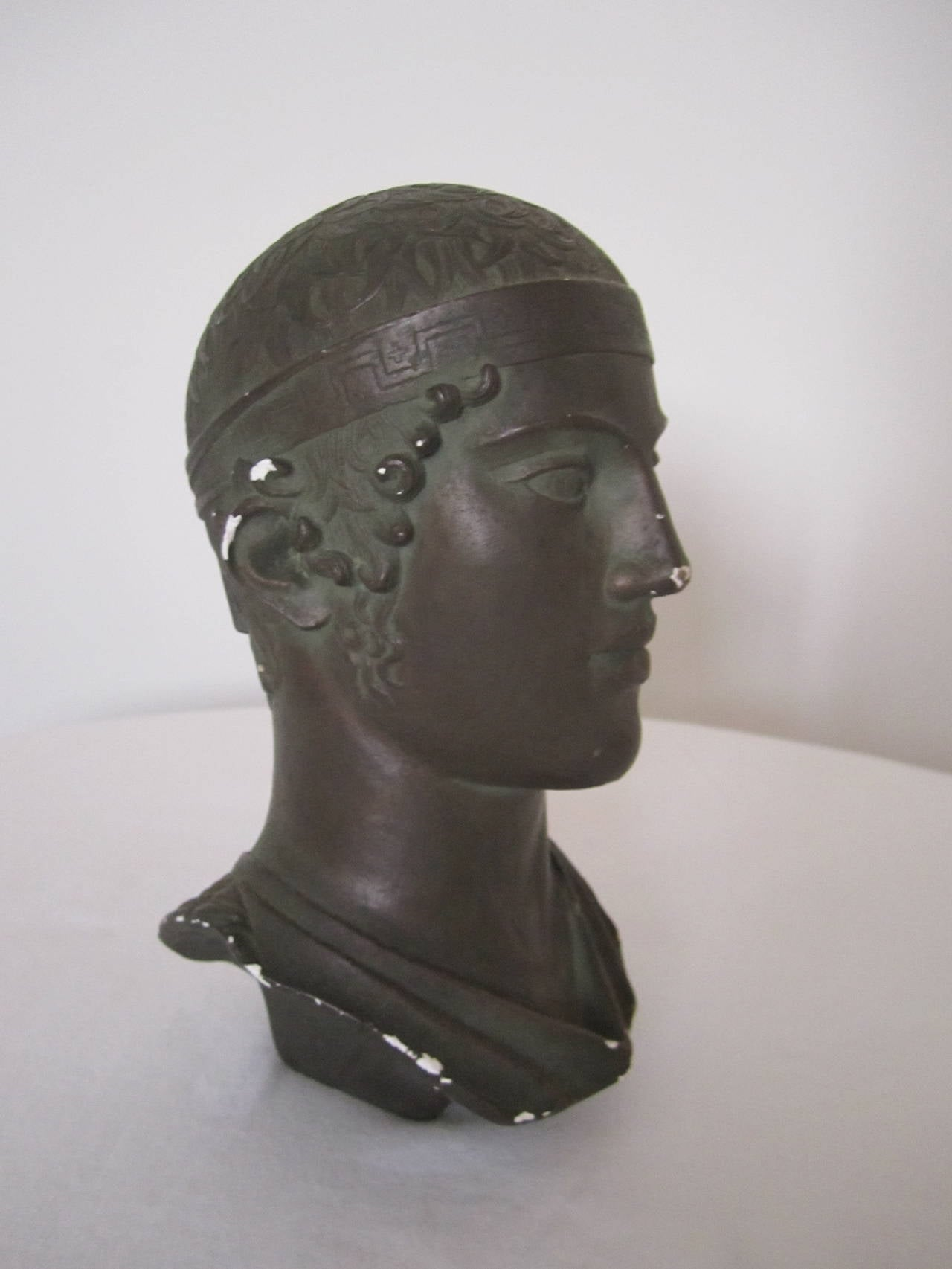 Greek or Roman Head Bust Sculpture, 1965 For Sale 4