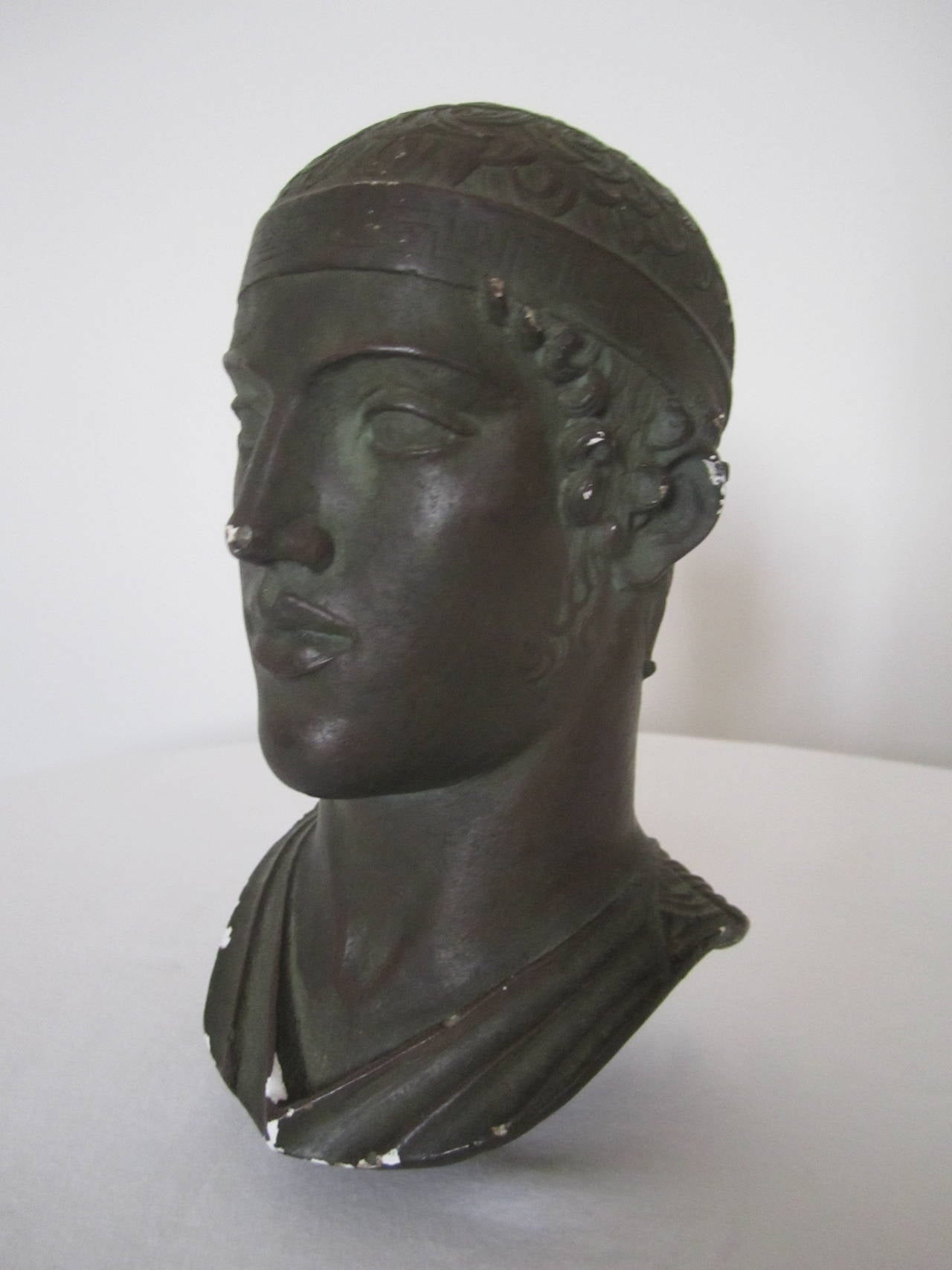 Greek or Roman Head Bust Sculpture, 1965 For Sale 5