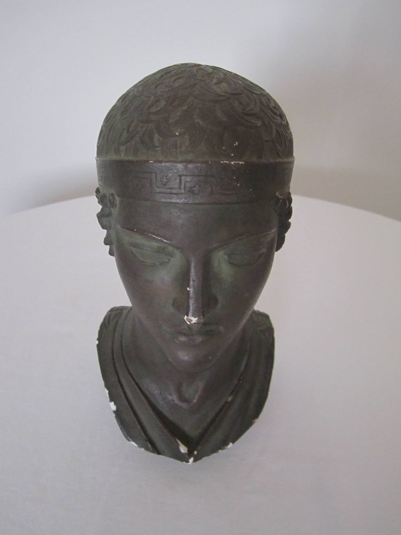 Greek or Roman Head Bust Sculpture, 1965 For Sale 6