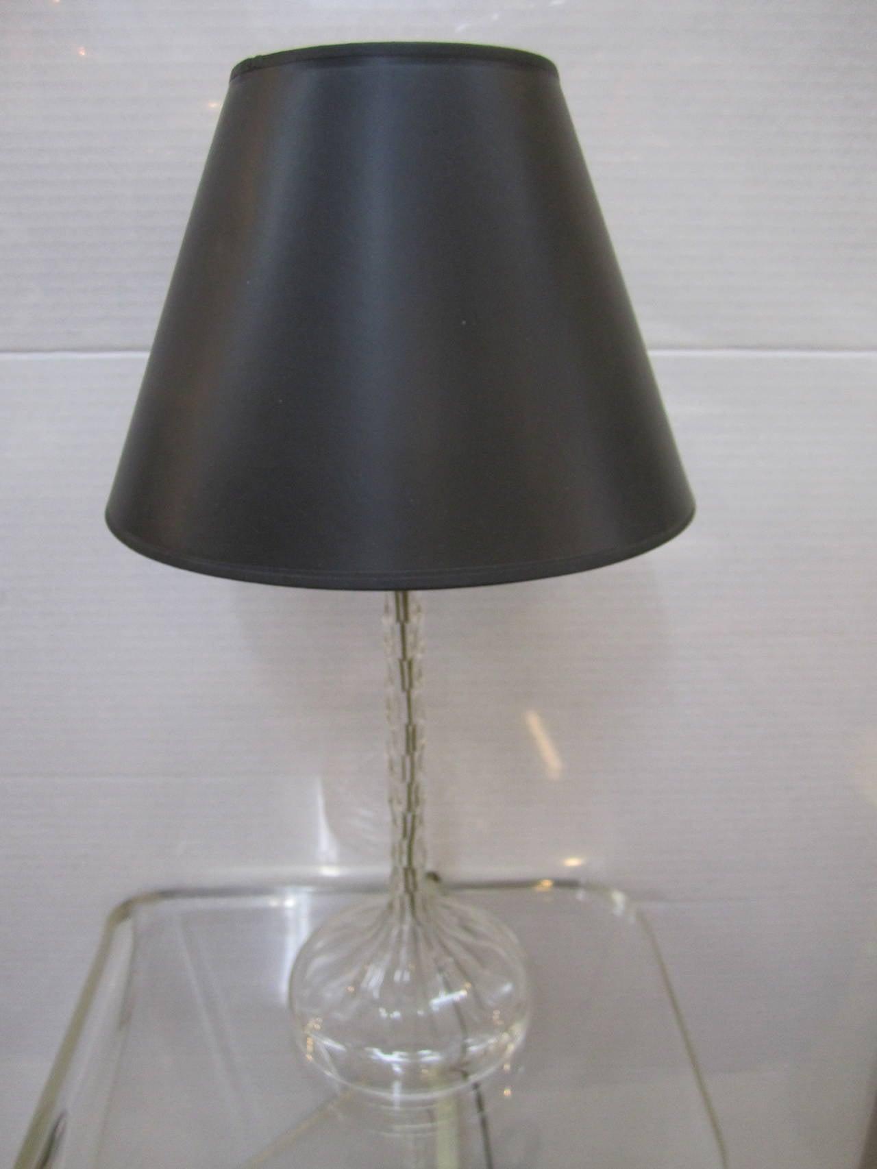items similar to elegant vintage clear cut crystal desk or table lamp. Black Bedroom Furniture Sets. Home Design Ideas