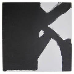 Abstract Black and White Artwork Painting