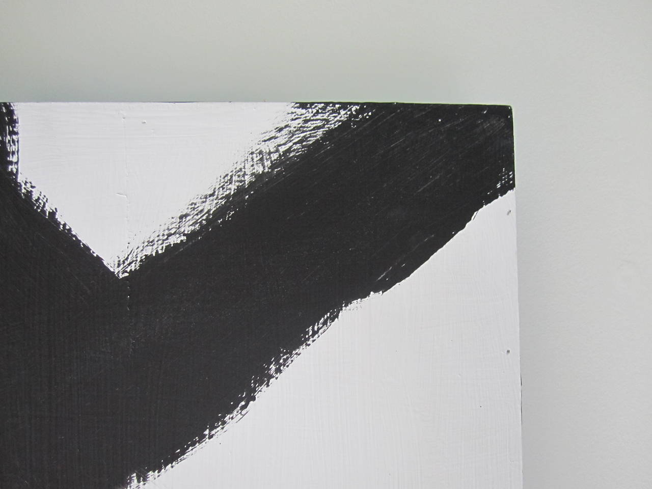 Abstract Black and White Artwork Painting In Excellent Condition For Sale In New York, NY