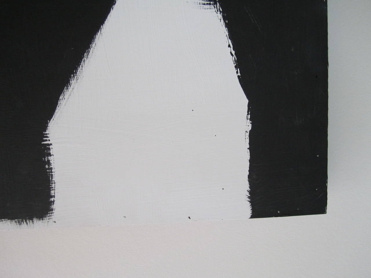 Contemporary Abstract Black and White Artwork Painting For Sale