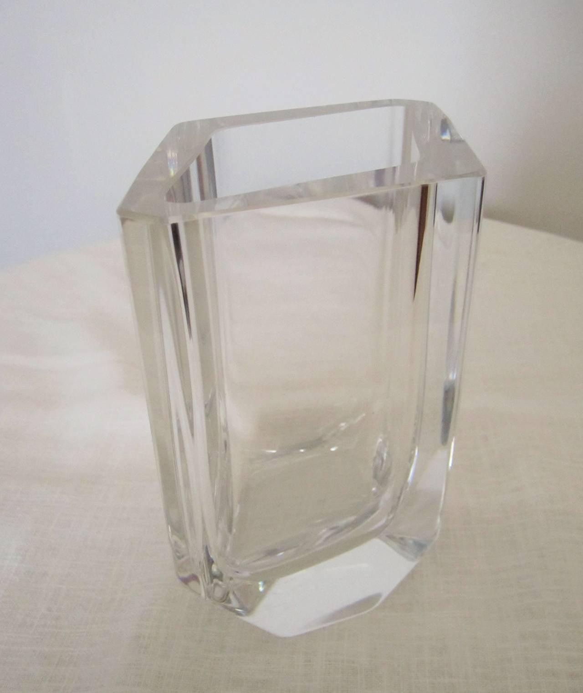 vintage scandinavian modern crystal vase at 1stdibs. Black Bedroom Furniture Sets. Home Design Ideas