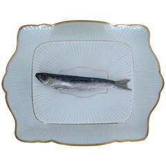 French Porcelain 'Sardine' Box Dish by Mehun