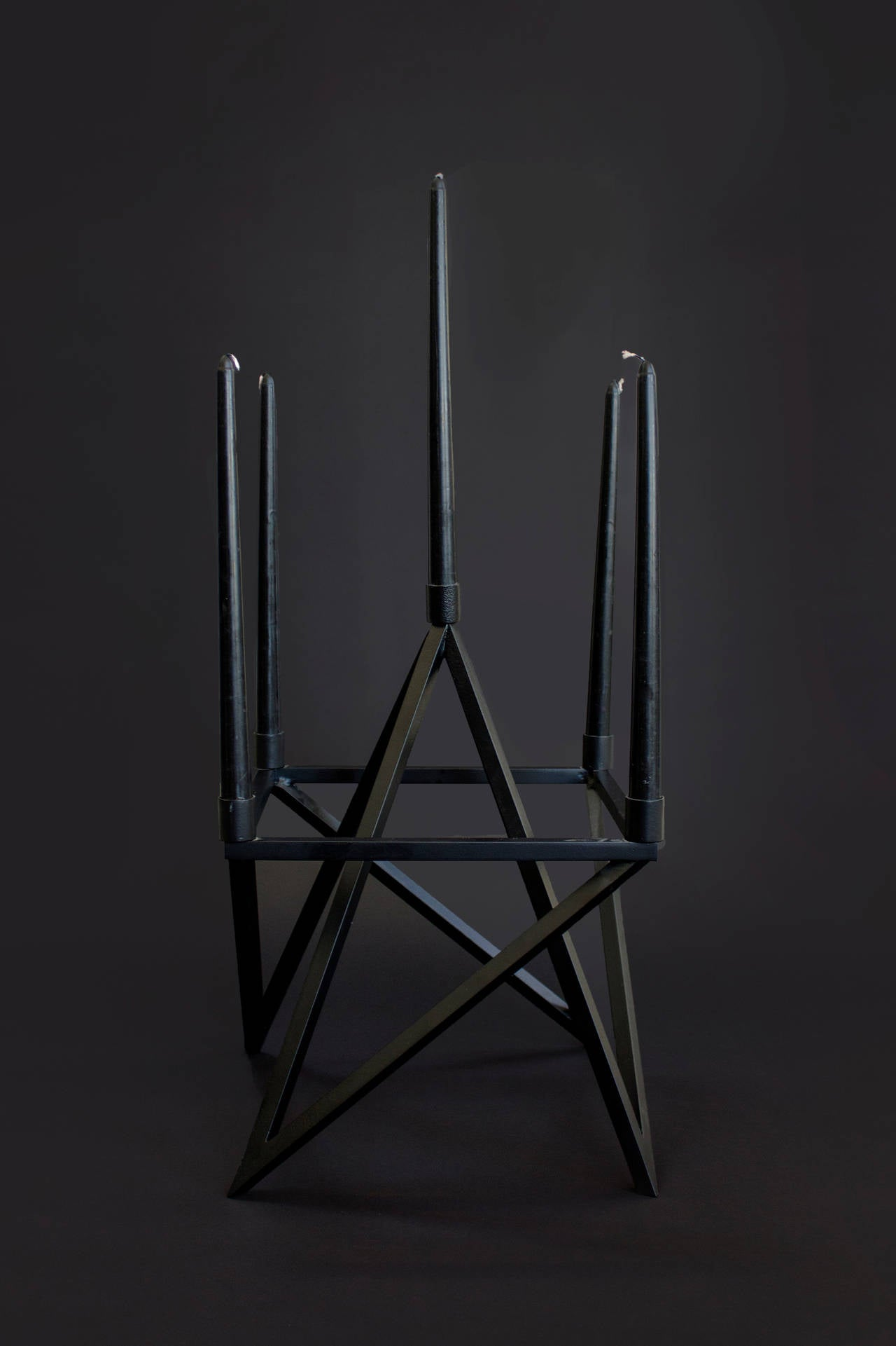 Contemporary Black 'Pagan' Star Candelabra by Material Lust, 2016 3