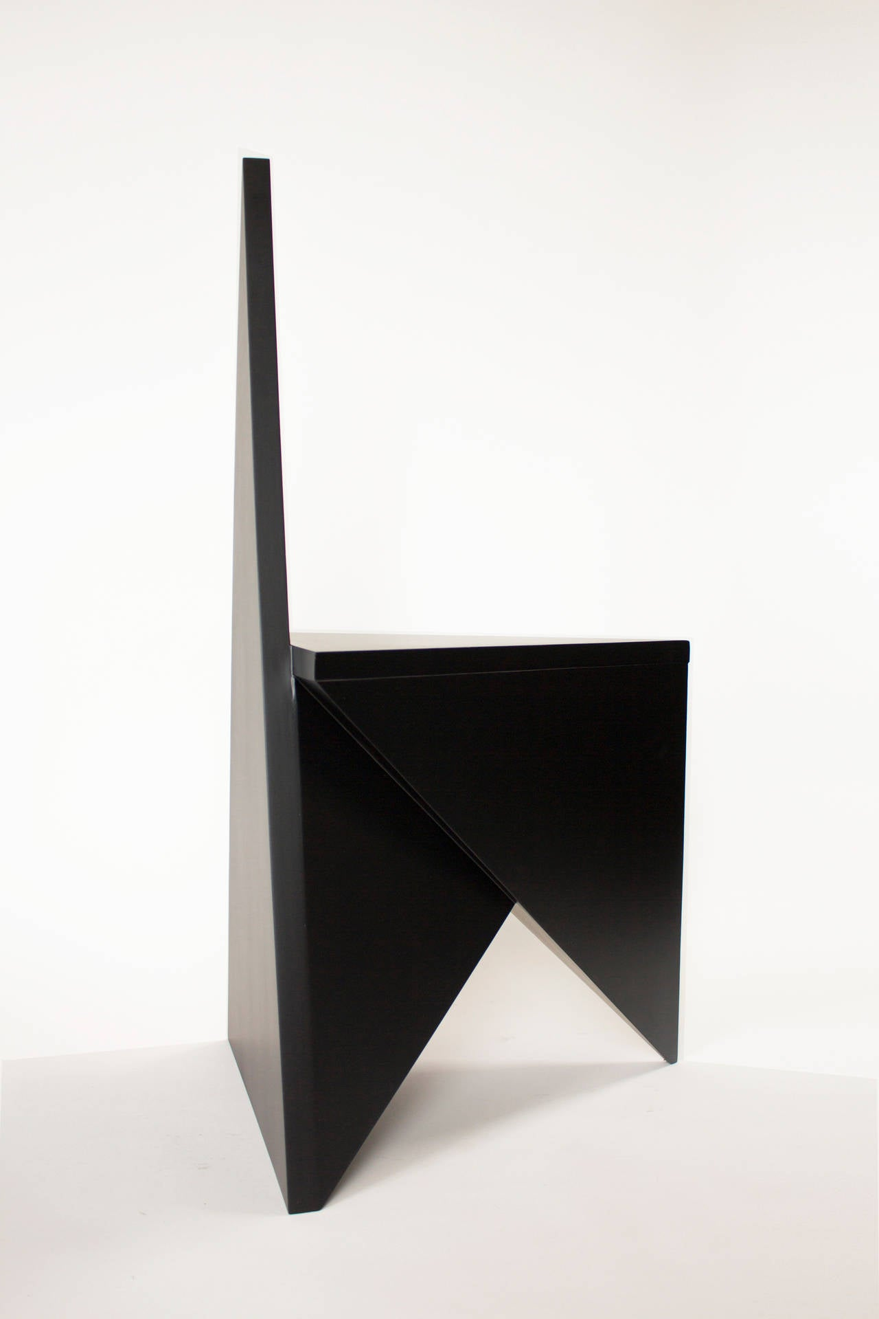 Wood Contemporary 'Vanishing Twin' Side Chair by Material Lust, 2015
