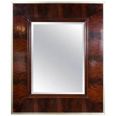 Thomas O'Brien Flame Mahogany Mirror