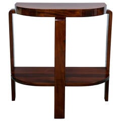 Mahogony Art Deco Side Table or Console