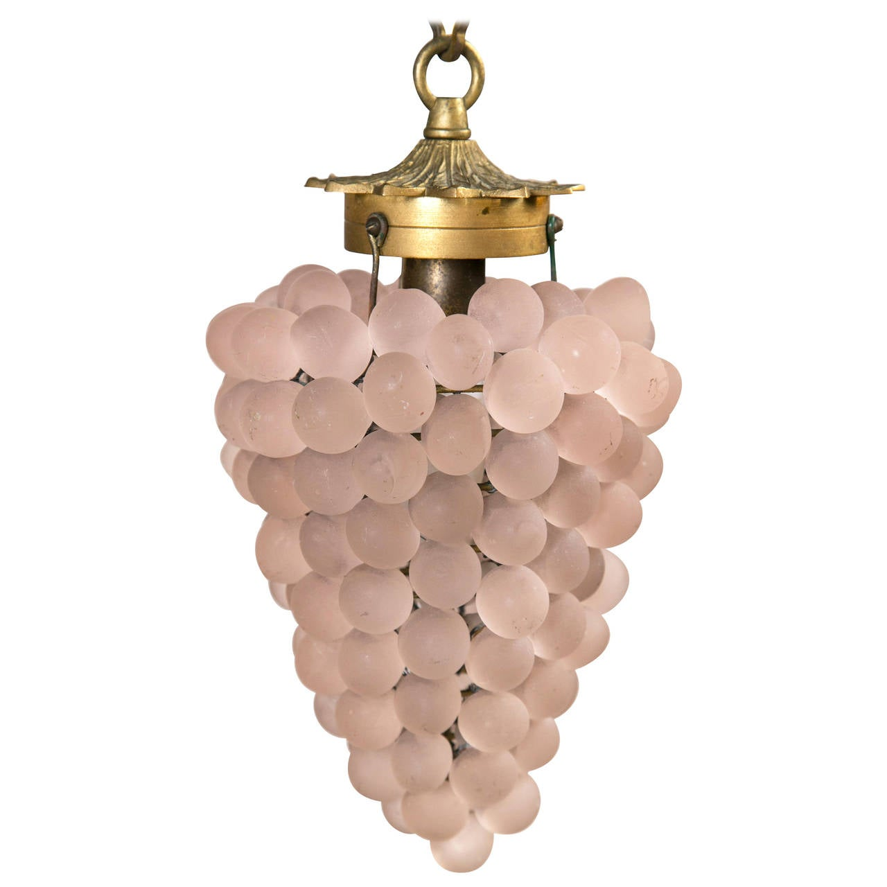 mid century italian grape cluster pendant light fixture at