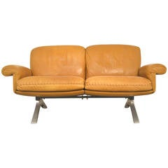 Vintage 1970s De Sede Ds 31 Two-Seat Sofa Loveseat