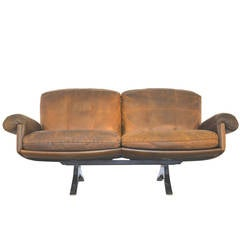 Vintage 1970s De Sede DS 31 Two-Seat Sofa or Loveseat