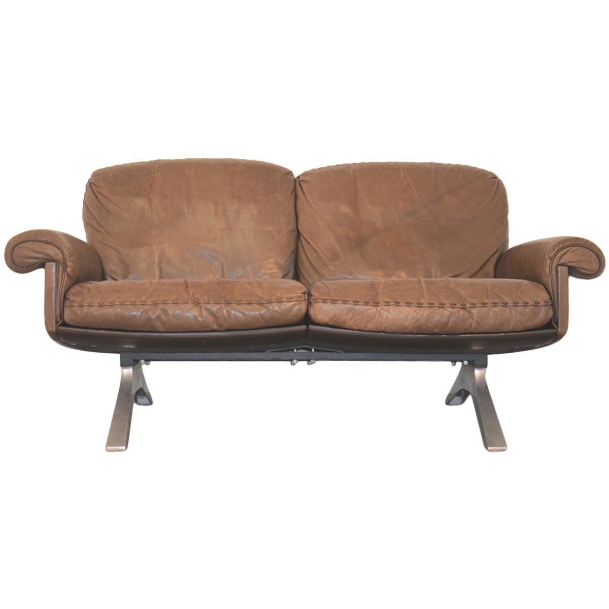 vintage 1970s de sede ds 31 two seat sofa at 1stdibs. Black Bedroom Furniture Sets. Home Design Ideas
