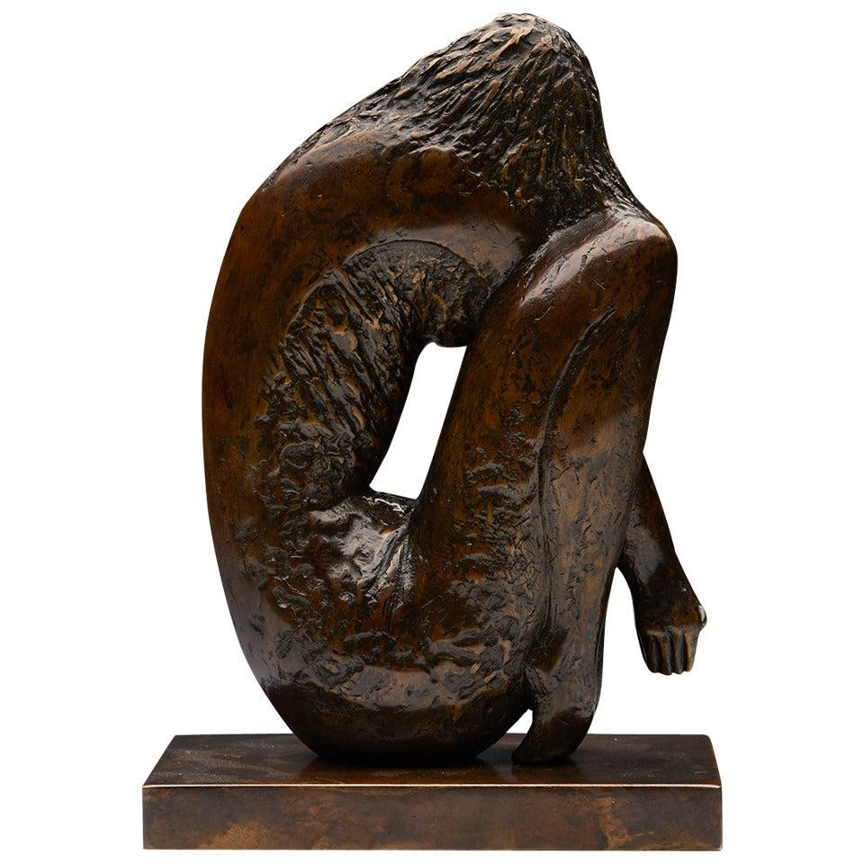 Crouching Girl Limited Edition Bronze Sculpture by John Farnham