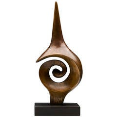Spiral Figure Limited Edition Bronze Sculpture by John Farnham