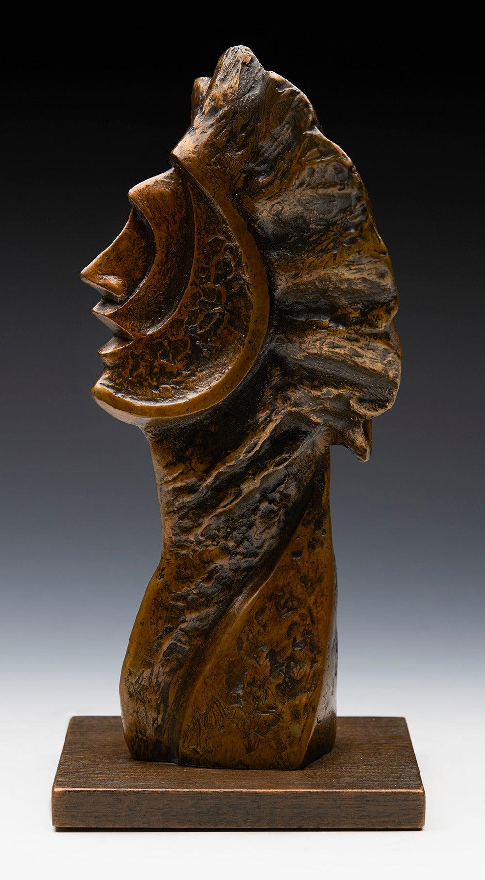 Profile Heads, Limited Edition Bronze Sculpture by John Farnham For Sale 3