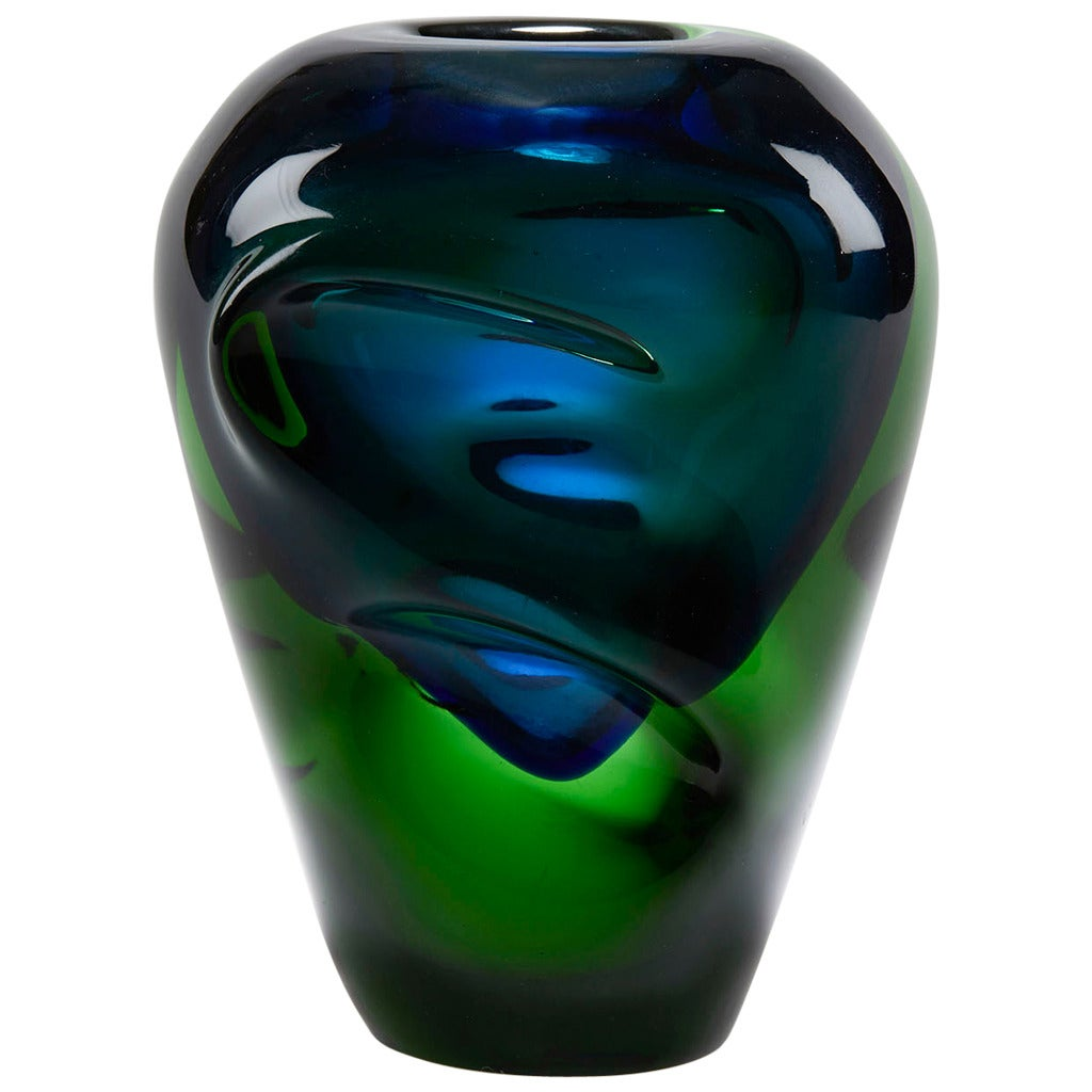 Czech skrdlovice sommerso art glass vase by jindrich beraneck czech skrdlovice sommerso art glass vase by jindrich beraneck 1950s for sale reviewsmspy