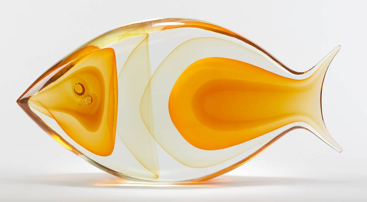Murano glass fish sculpture by romano dona 20th century at for Murano glass fish