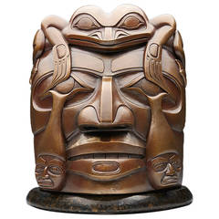 Haida Volcano Woman Bronze Limited Edition Sculpture by Christian White