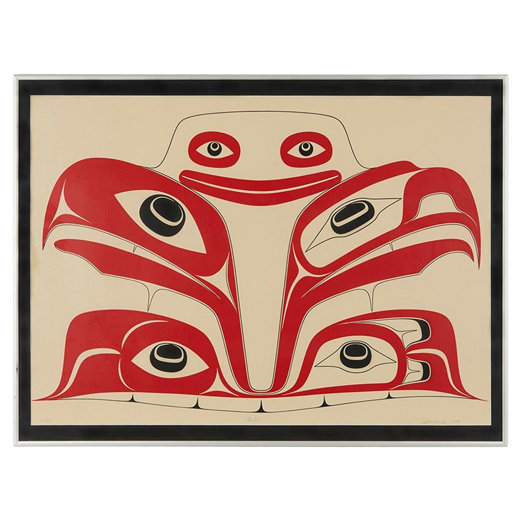 Haida the Gift Limited Edition 123/125 Silk Screen Print by Robert Davidson