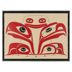 Haida the Gift Limited Edition 123/125 Silk Screen Print by Robert Davidson