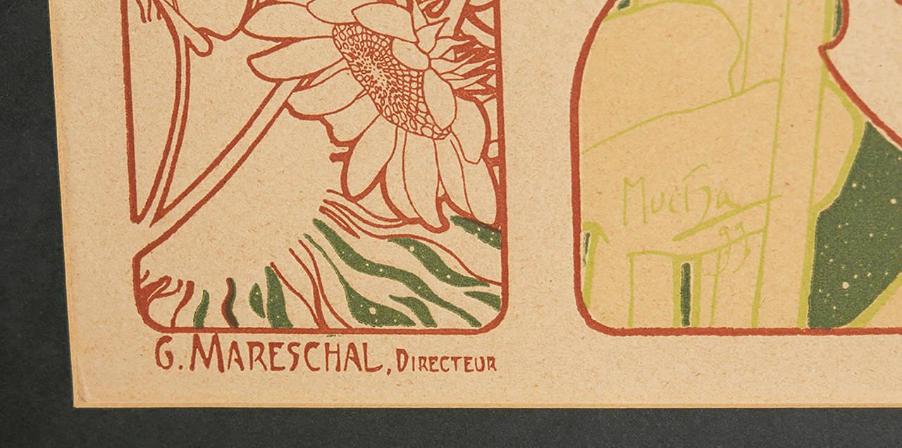 Art Nouveau L'art Photographique Cover by Alphonse Mucha, 1899 For Sale