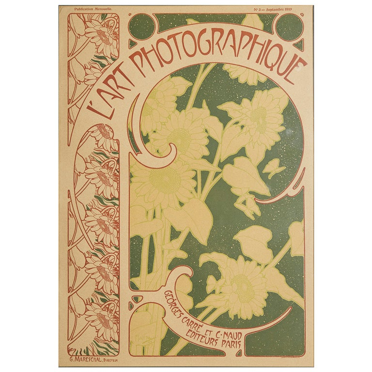 L'art Photographique Cover by Alphonse Mucha, 1899 For Sale