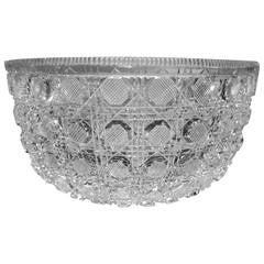 Rare American Brilliant-Cut Lead Crystal Bowl