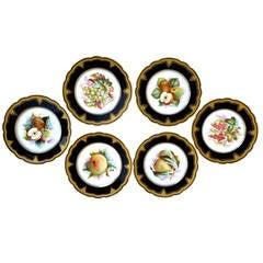 Porcelain Plates with Fruit Motifs