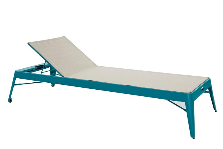 For Sale: Green (Vert Canard) Azur Sunbed in Pop Colors by Frederic Gaunet & Tolix