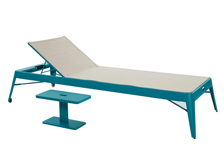 For Sale: Green (Vert Canard) Azur Sunbed in Pop Colors by Frederic Gaunet & Tolix 2