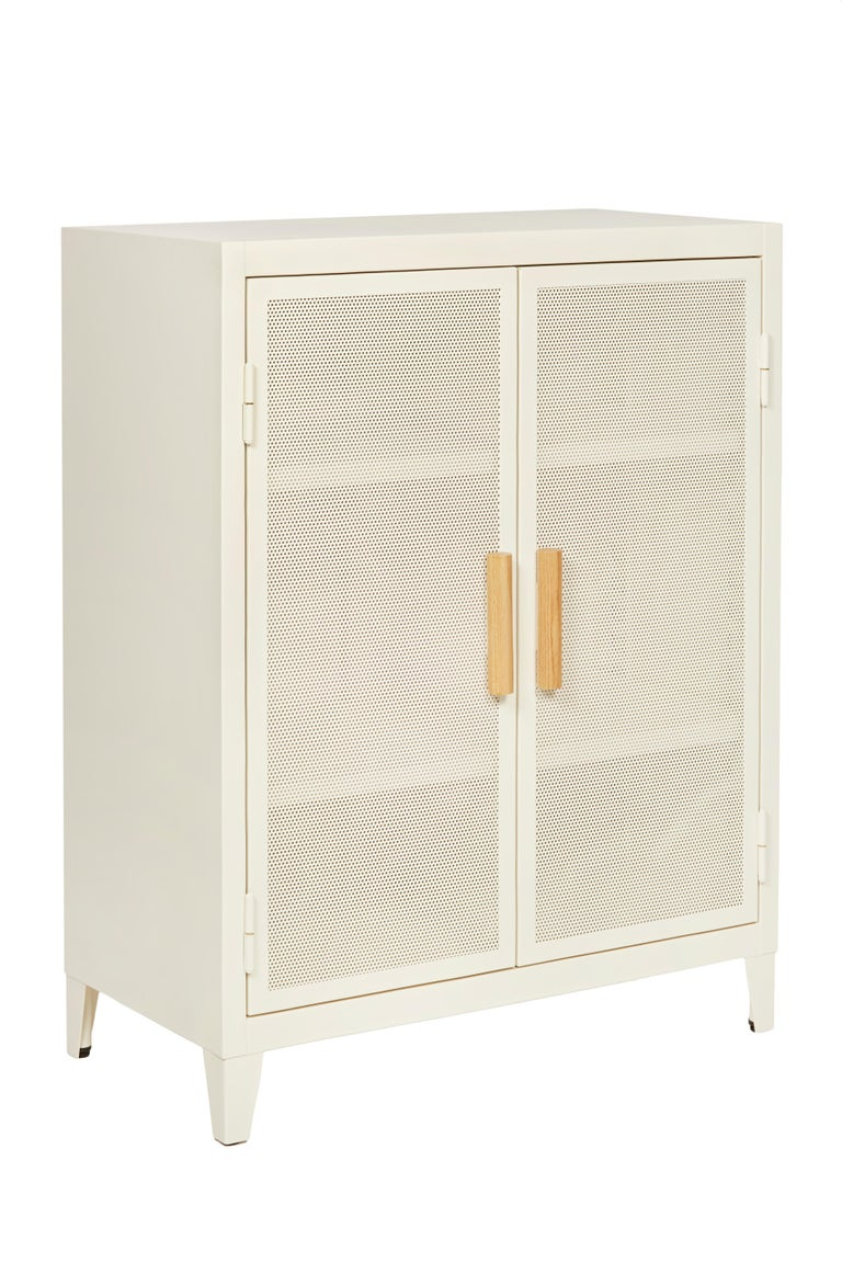 For Sale: White (Ivoire) B2 Perforated Low Locker in Essential Colors by Chantal Andriot and Tolix 3