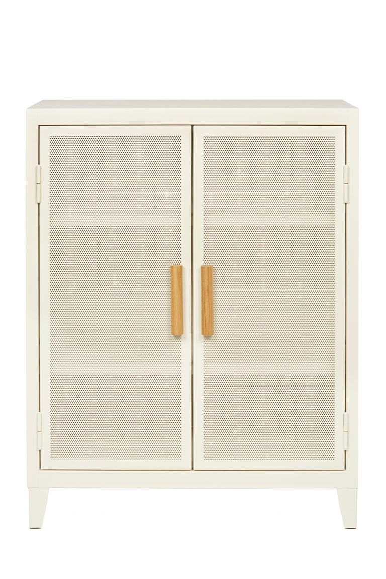 For Sale: White (Ivoire) B2 Perforated Low Locker in Essential Colors by Chantal Andriot and Tolix 2