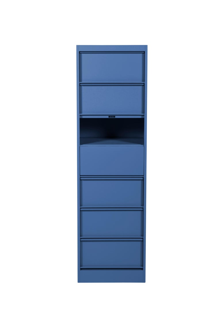 For Sale: Blue (Myrtille) CC7 Industrial Cabinet in Pop Colors by Xavier Pauchard and Tolix 2