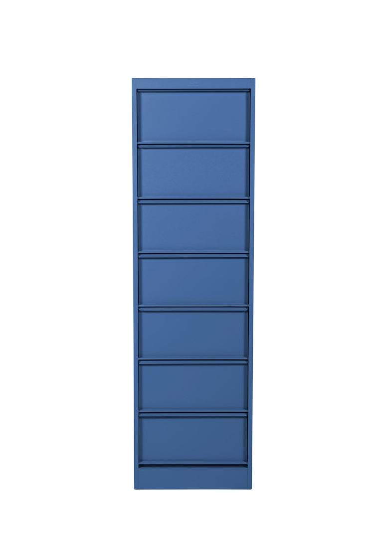 For Sale: Blue (Myrtille) CC7 Industrial Cabinet in Pop Colors by Xavier Pauchard and Tolix 3